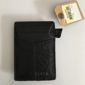 Fossil Leather Wallet/Money Clip